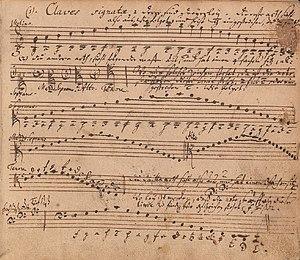 Klavierbüchlein für Wilhelm Friedemann Bach - This is the explanation of clefs which begins the Wilhelm Friedemann Klavierbüchlein, in Johann Sebastian's hand.