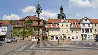Bad Blankenburg Place in Thuringia, Germany