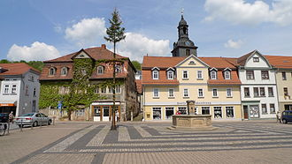 Bad Blankenburg - Image: Bad Blankenburg Marktplatz