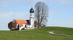 Bad Heilbrunn Oberbuchen westl Kirche Maria Heimsuchung v S
