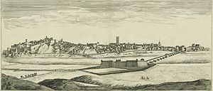 Badajoz - Depiction of Badajoz in the mid-1600s