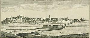 Badajoz - Depiction of Badajoz in the mid-1600s