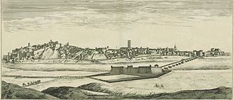 Extremadura - 17th century panorama of the city of Badajoz.