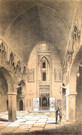 Arab Christians - Interior of a church in Mosul, 1852.