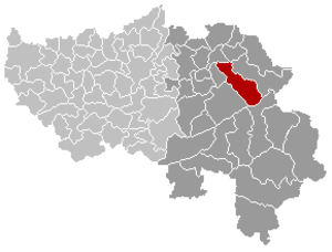 Baelen - Image: Baelen Liège Belgium Map