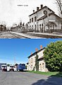 Bahnhof in Nomeny, ca. 1894 und 2019.jpg