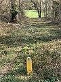 Balise position canalisation gaz dans la nature (coteau) numéro 118 à Saint-Maurice-de-Beynost.jpg