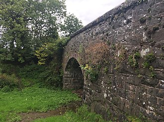 Ballygowan Halt railway station - The Glen Road bridge, which was at the end of the platform, still stands today.