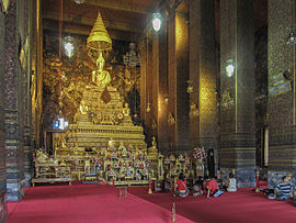 Interior of the ubosot of Wat Pho & Wat Pho - Wikipedia islam-shia.org