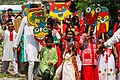 Bangladeshi children with Pohela Boishakh placard at Pohela Boishakh celebration (04).jpg