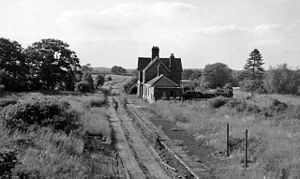 Barcombe railway station - Barcombe station in 1961