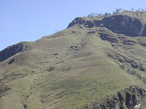 Bare grassy slopes near Ainaro-Same T-junction, Jul 2003.jpg