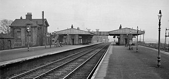 Barnetby railway station - View in 1962 towards Immingham and Grimsby