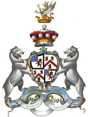 George Fox-Lane, 1st Baron Bingley - The coat of arms of Lord Bingley.