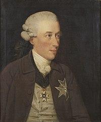 Gustaf Adam von Nolcken, malt af John Downman i 1780