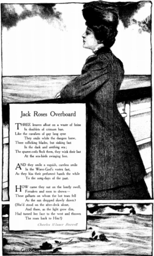 """Charles Wisner Barrell - """"Jack Roses Overboard"""", poem by Barrell published in Munsey's Magazine, 1907"""