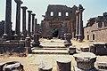 Basilica Complex, Qanawat (قنوات), Syria - East part- view through atrium to southern façade - PHBZ024 2016 1493 - Dumbarton Oaks.jpg