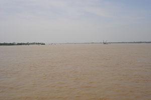 Bassac River - The wide Bassac River near Cần Thơ in the heart of the Mekong Delta