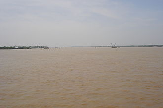 Bassac River - The wide Bassac River near Cần Thơ in the heart of the Mekong Delta