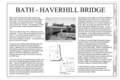 Bath-Haverhill Bridge, Title Sheet - Bath-Haverhill Bridge, Spanning Ammonoosuc River, bypassed section of Ammanoosuc Street (SR 135), Woodsville, Grafton County, NH HAER NH-33 (sheet 1 of 4).png