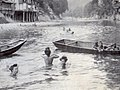Bathing at river in the summer of Japan (1915 by Elstner Hilton) clip1.jpg