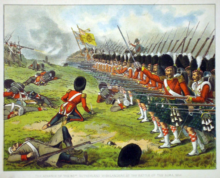 93rd Sutherland Highlanders at the Battle of Alma Battle of Alma Sutherland highlanders.png