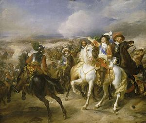 Louis, Grand Condé - The Grand Condé at the battle of Lens, 20 August 1648, victory over the Spanish troops commanded by archduke Leopold