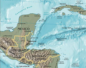Yucatán Channel - Map of the region