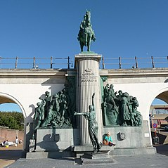 monument of Leopold II in Ostend