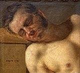 Beaux-Arts de Carcassonne - Etude de tête et torse d'homme - Ingres (1797).jpg