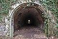 Beginning of a tunnel in Fort de la Chartreuse, Liege, Belgium (DSCF3450-hdr).jpg