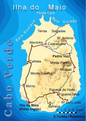 Maio, Cape Verde - Image: Bela vista net Maio map