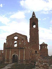 Belchite - Iglesia de San Marin - Fachada01.JPG