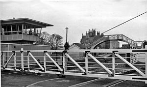 Belford, Northumberland - The former Belford railway station in 1965