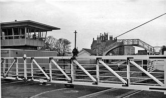 Belford, Northumberland - The former Belford railway station in 1965