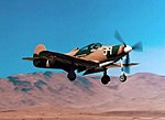 Bell P-39Q landing Reno (6981109557).jpg
