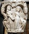 Benedetto antelami, capitello con storie bibliche, dal duomo di parma, 1178, giudizio di salomone.jpg