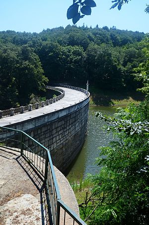 Bentler Nature Park - New Dam at the Bentler Nature Park.