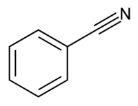 Benzonitrile structure.png