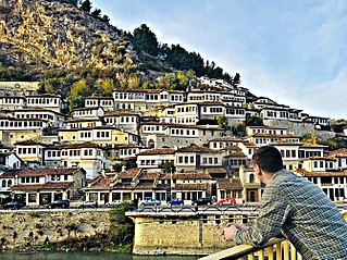Berat, the city on the Osum River in central Albania.jpg