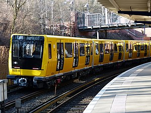Berlin U-Bahn - The latest model of Berlin's U-Bahn called 'Icke', introduced in 2015