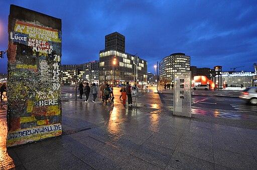 Berlin wall at Potsdamer Platz March 2009