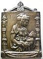 Bernardo rossellino da donatello, madonna col bambino tra candelabre, 1460-1485 su un modello del 1459.JPG