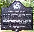 Berry Schools' Old Mill Sign, Floyd County, Georgia.jpg