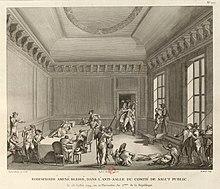Pierre,Gabriel Berthault e Jean Duplessis,Bertaux, Robespierre ferito al  Comitato di salute pubblica, 28 luglio 1794, Bibliothèque nationale de  France