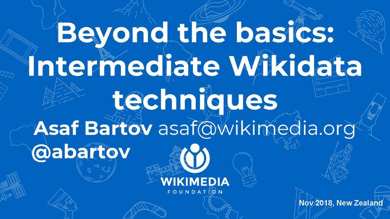 File:Beyond the basics - Intermediate Wikidata techniques.pdf