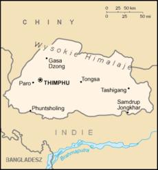 Bhutan CIA map PL