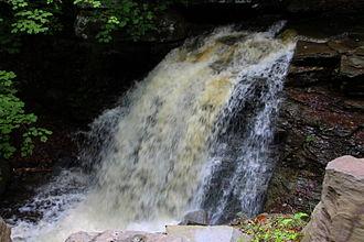 Davidson Township, Sullivan County, Pennsylvania - Big Run falls in Davidson Township
