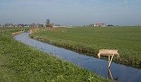 Bij Gaastmeer, sloot in het polderlandschap IMG 2459a 2018-04-19 08.28.jpg