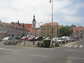 Bilina CZ main square from N 002.jpg